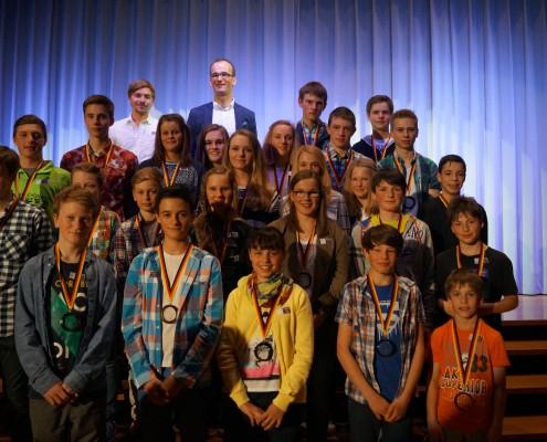 Jugendsportler 2015: Darunter auch viele Sportler des Skiteams.